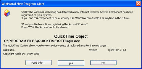 New WinPatrol ActiveX interface