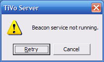 TiVo Beacon Service not found