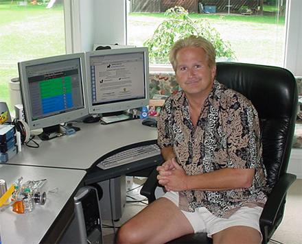 Bill Pytlovany in home office