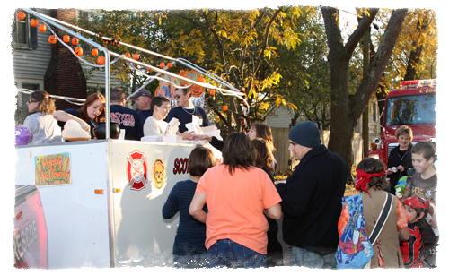 Scotia Fire Department Cider and Doughnut wagon