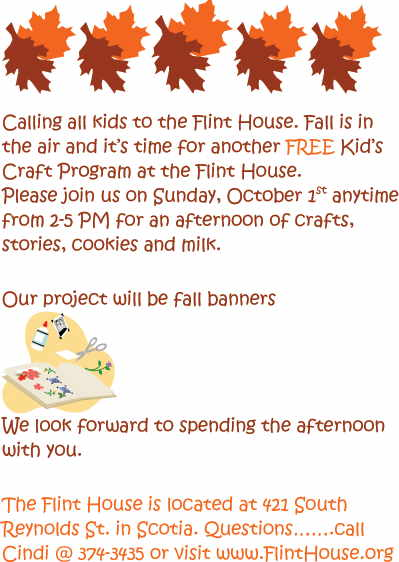 Flint House Kids Fall Craft Program