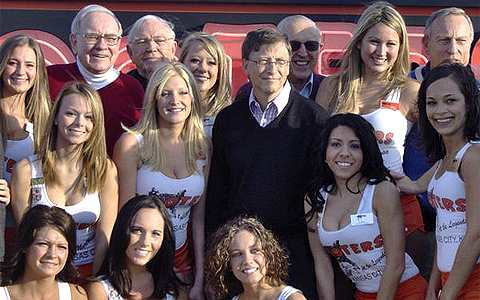 World's Two Richest Men Can Eat for Free at Hooters