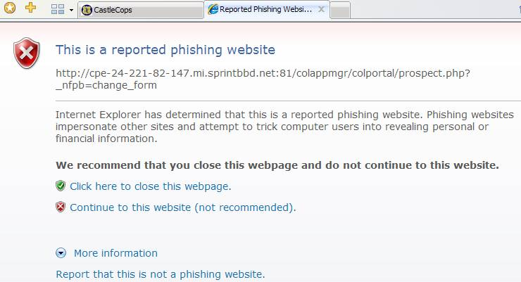 Phishing Controls in IE 7