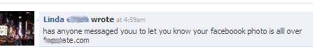 Facebook message from NOT a friend