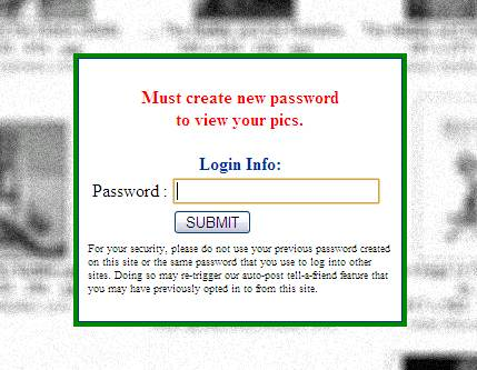 DO NOT ENTER YOUR PASSWORD!