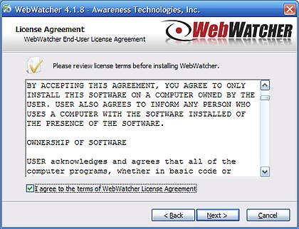 Web Watcher  warning