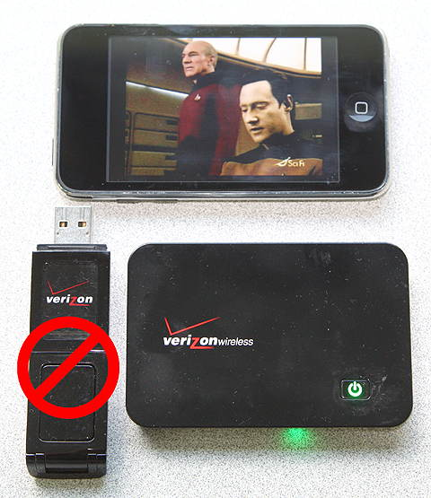 Using Verizon MiFi to watch TV