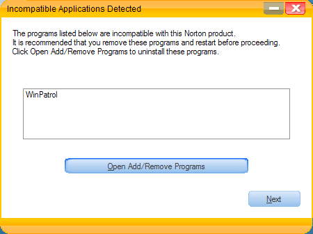 NAV 2007 seems to think WinPatrol is incompatible.  WRONG!