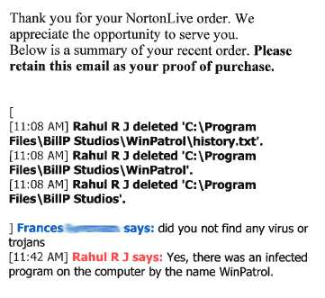 Norton says that WinPatrol is a virus