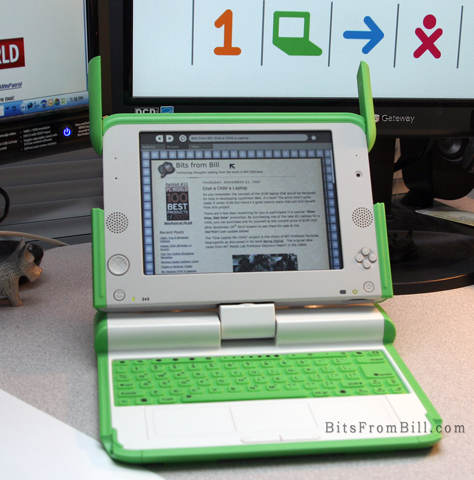 My new Give One, Get One OLPC Laptop