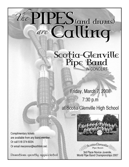 Scotia-Glenville Pipe Band March Concert