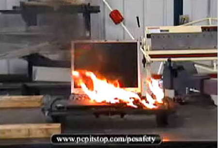 Click to view PC Pitstop laptop fire video