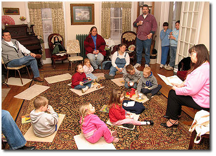 Story time at the Flint House