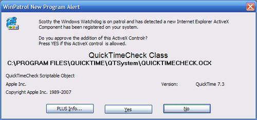New ActiveX control from Apple