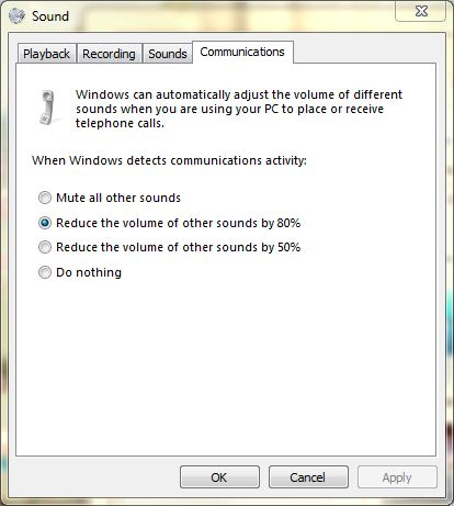 Sounds options