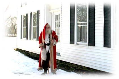 St Nicholas visits the Flint House