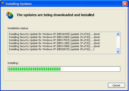 Updating all my Windows Security updates