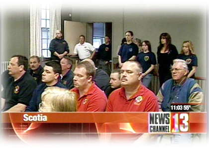 Scotia Village Board Meeting in support of Fire Cheif Richard Kasko