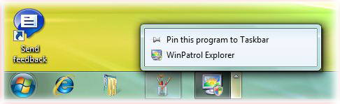 WinPatrol on the Windows 7 task bar