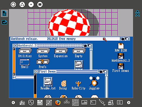 Running Amiga OS on the XO laptop shows it's real power and flexibility